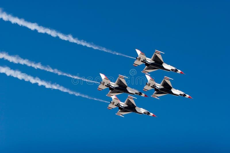 16 πολεμικό τζετ φ thunderbird στοκ φωτογραφία