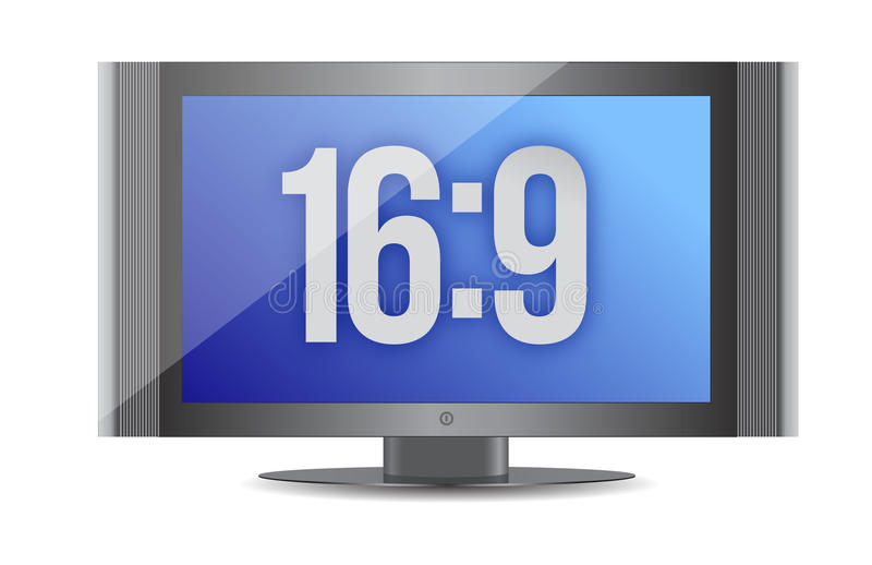 Download 16:9 flat screen monitor stock illustration. Image of icon - 27562471