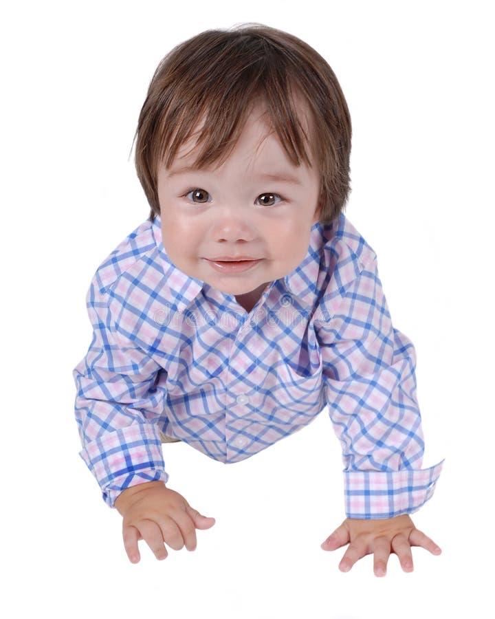 16 child expression royaltyfri foto