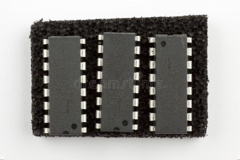 16 circuits intégrés de broche image stock