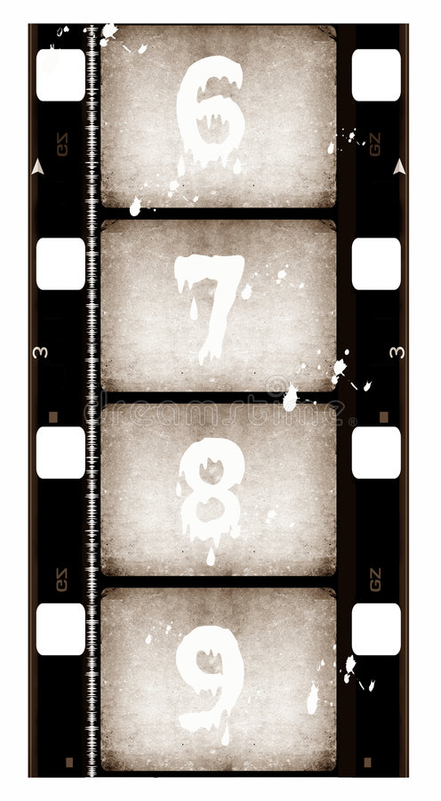16 filmmillimetrar rulle vektor illustrationer