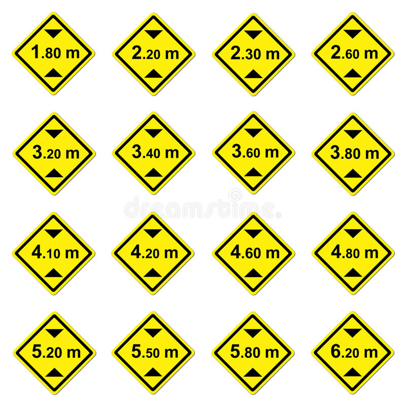 Download 16 Height Limitation Traffic Sign Stock Illustration - Image: 25943976