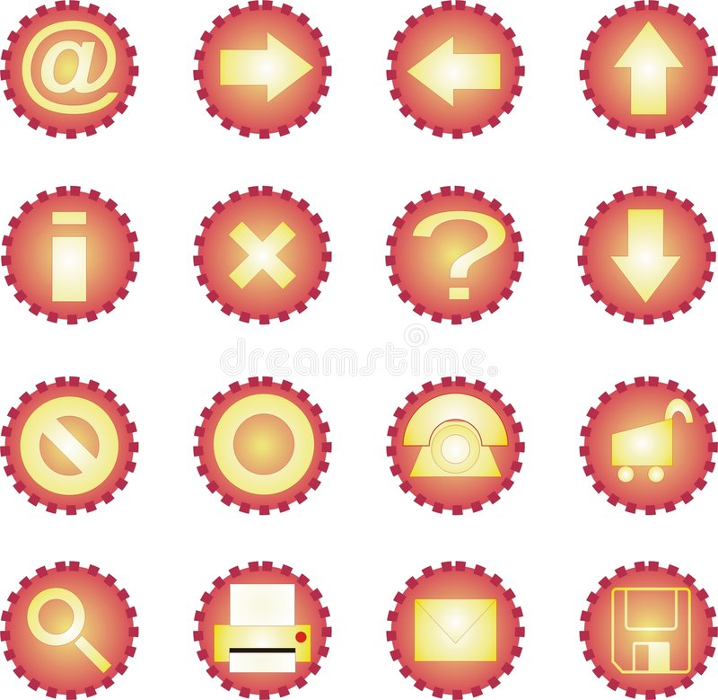 Download 16 icon set - Sunny stock illustration. Image of save, trolley - 344847