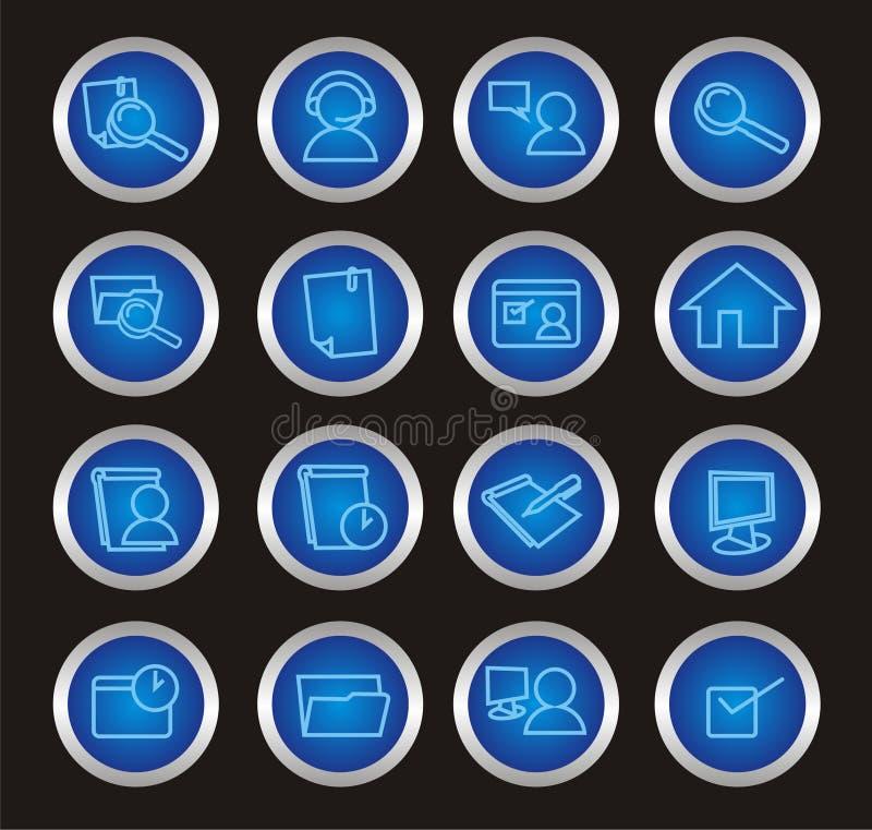16 iconos del Web ilustración del vector