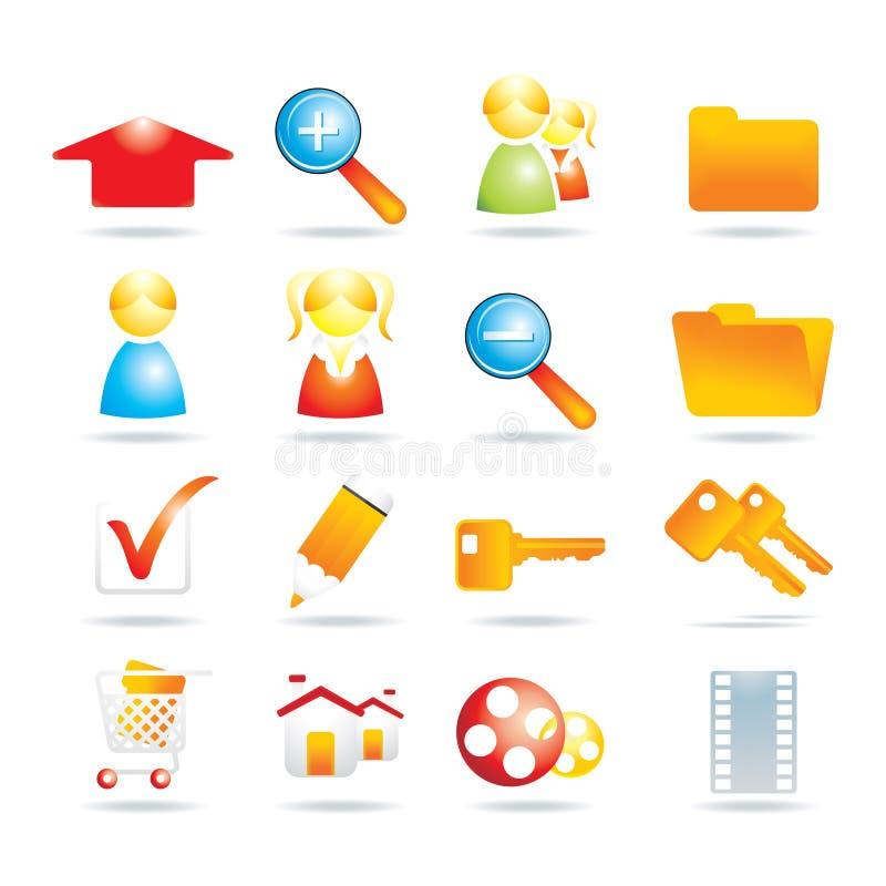 16 ikon sieć royalty ilustracja