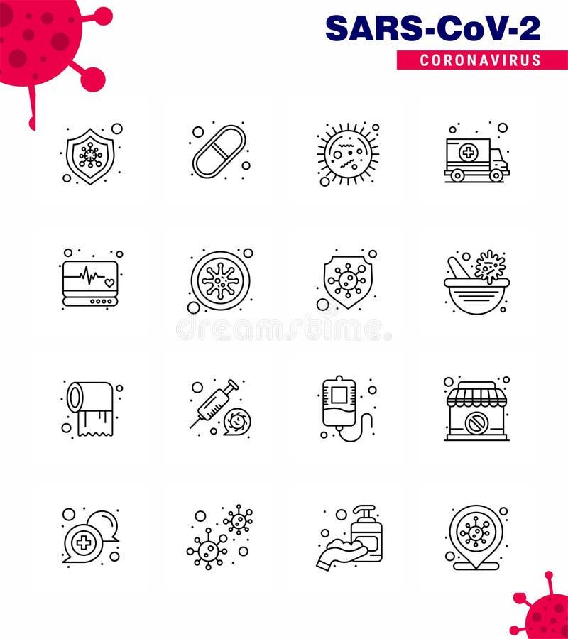 Free 16 Line Viral Virus Corona Icon Pack Such As Emergency, Hospital, Corona, Car, Virus Royalty Free Stock Image - 180087826