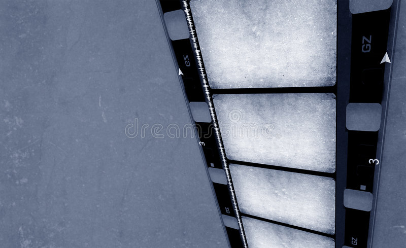 16 mm Film roll. 2D digital art stock photography