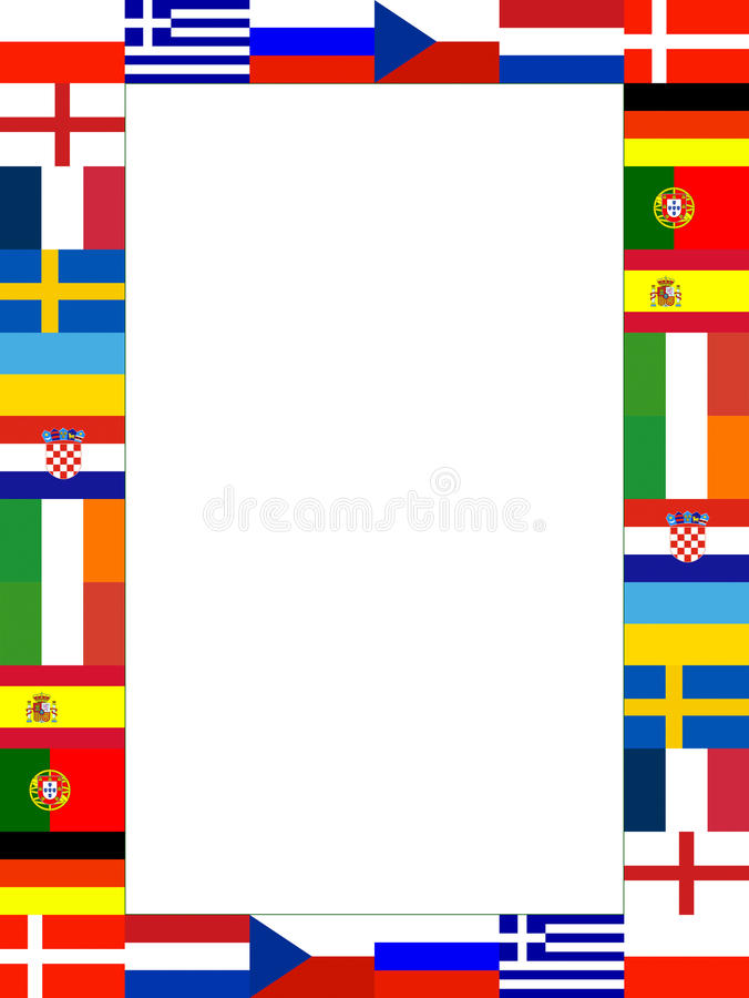 16 nationaal vlagFrame stock illustratie