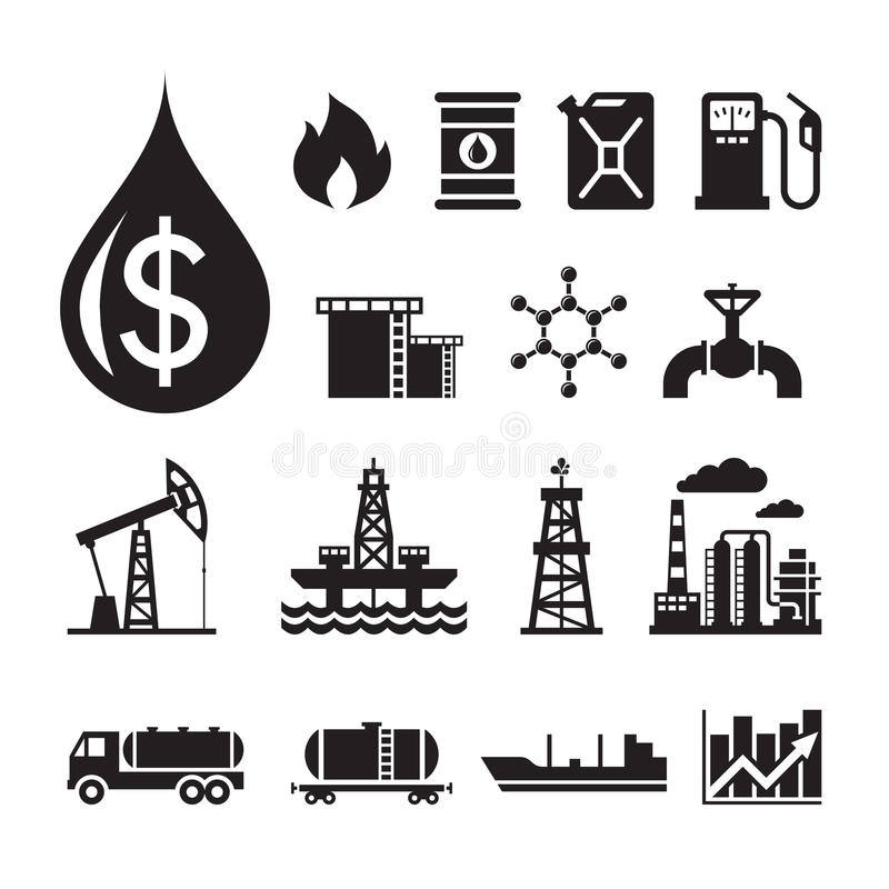 Free 16 Oil Industry Vector Icons For Infographic, Business Presentation, Booklet And Different Design Project. Royalty Free Stock Images - 47204359