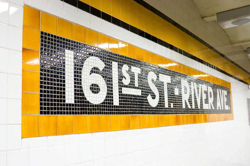 161st Street Subway Station, NYC. The subway stop for 161st Street in the Bronx, New York royalty free stock image