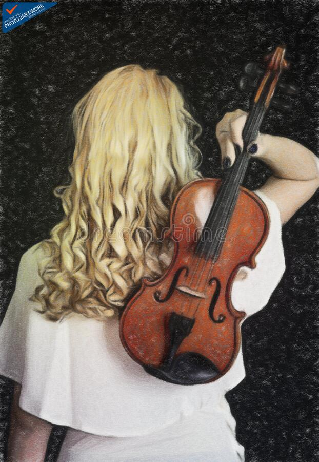 Γυναίκα βιολιών - ταυτότητα: 16218-130713-9998 στοκ φωτογραφία με δικαίωμα ελεύθερης χρήσης