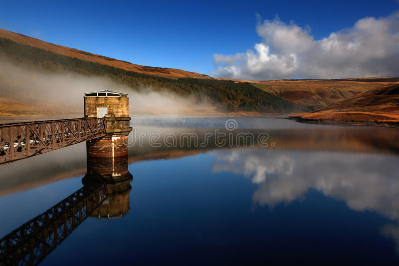 168 - reflection mist clouds dovestone stock photos