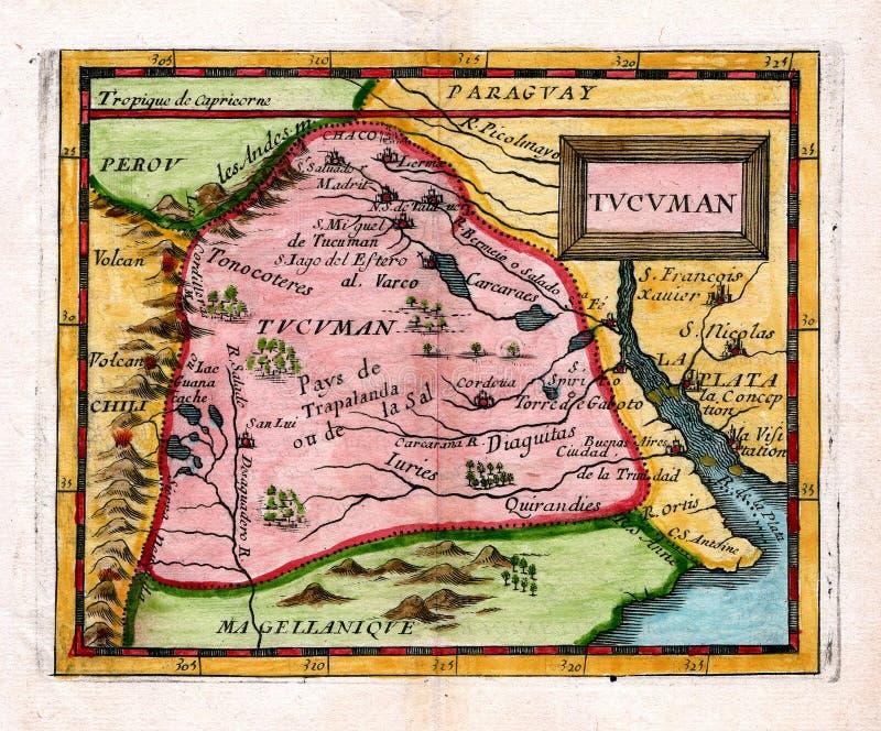 Download 1685 Antique Duval Map Tucuman Argentina Stock Illustration - Illustration of atlas, plata: 8744588