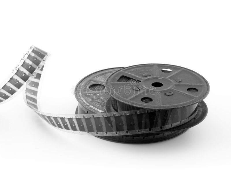 16mm胶卷轴 库存照片