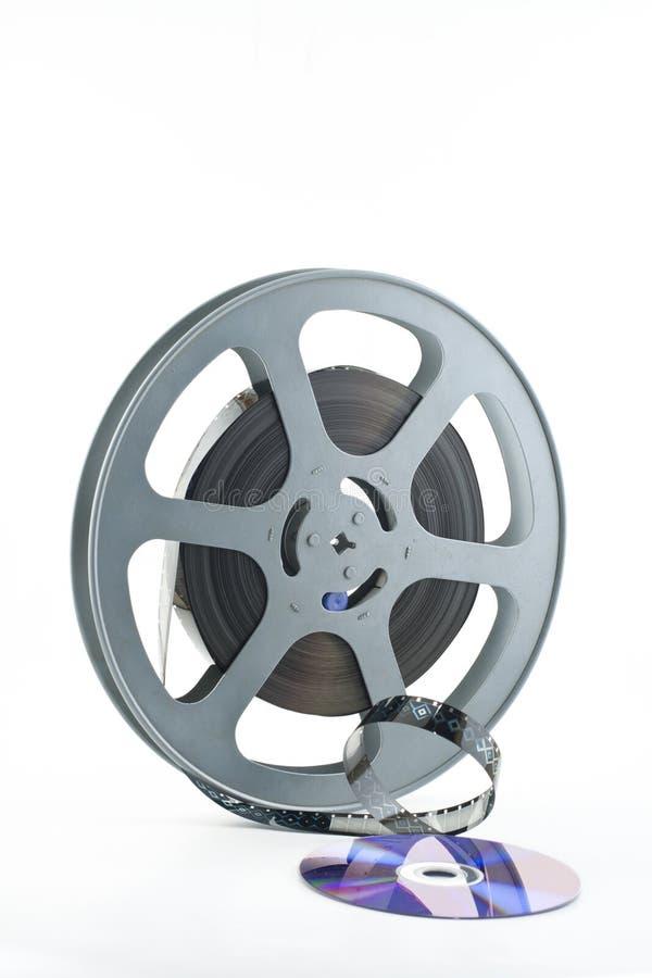 16mm Filmbandspule und DVD lizenzfreies stockbild