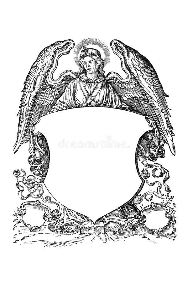 16th ангел подготовляет пальто столетия бесплатная иллюстрация
