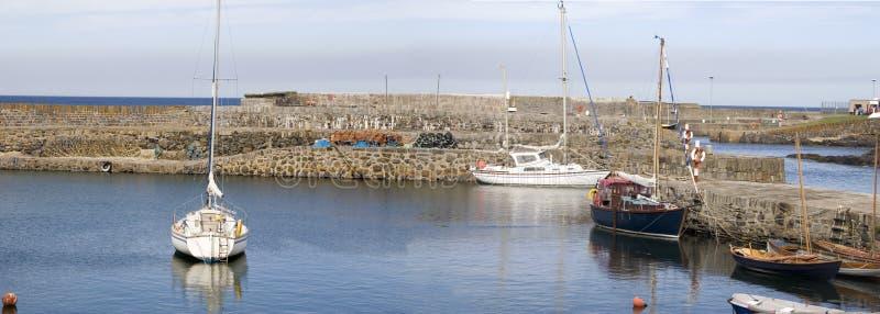 16th Century Harbour, Portsoy, Scotland stock photo