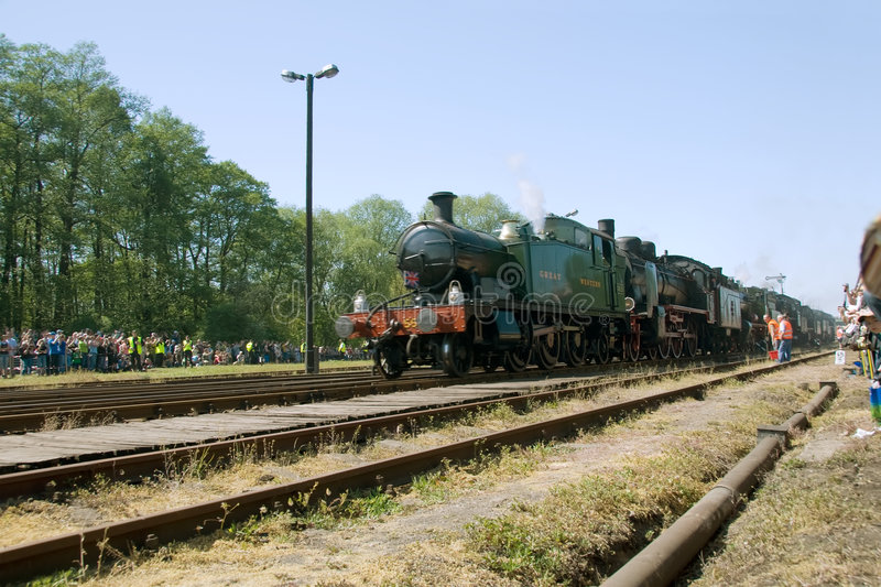 16th Steam Locomotive Parade 2009 - Train 5521 stock images