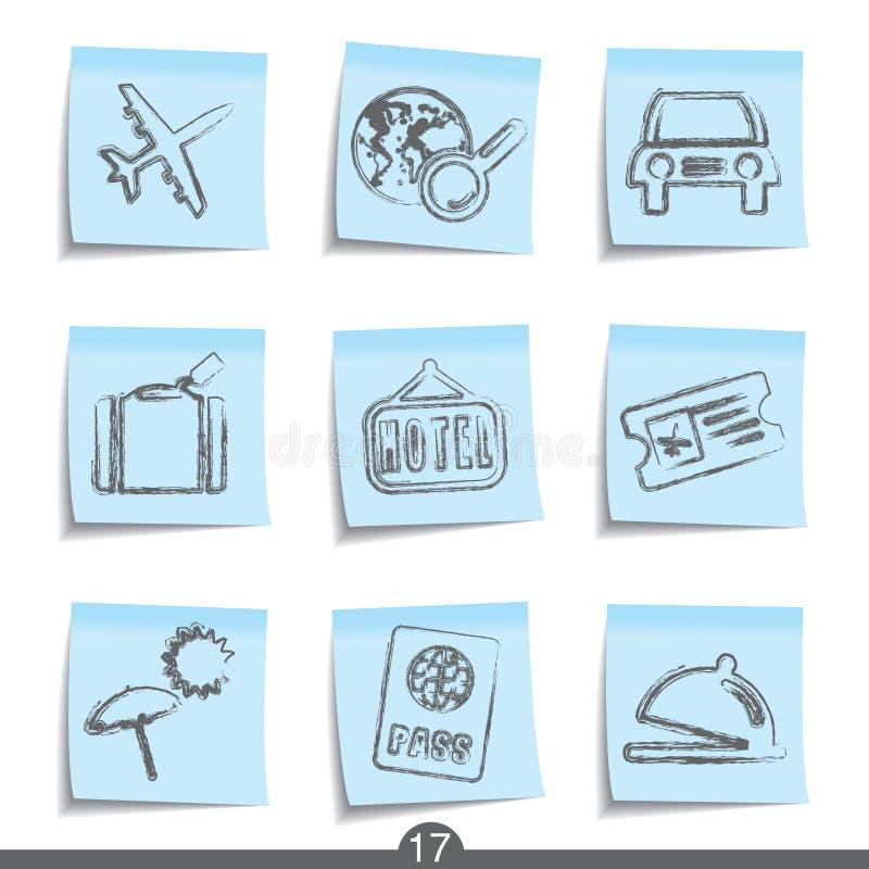 17 εικονίδια κανένα μετα τα& διανυσματική απεικόνιση