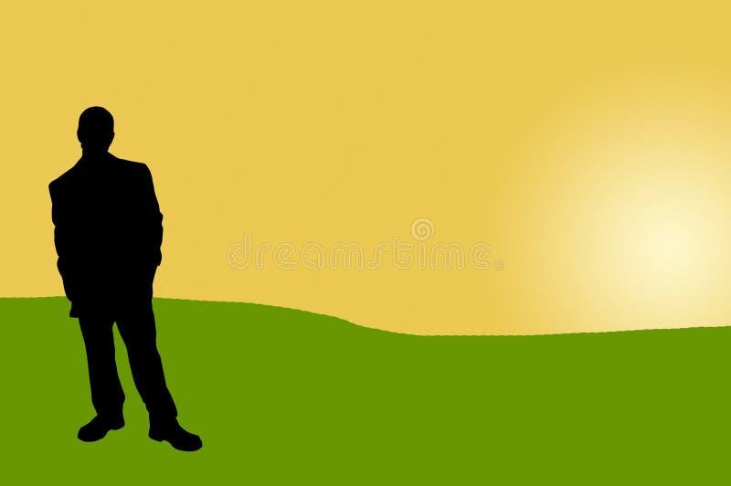 17 бизнесменов теней иллюстрация штока