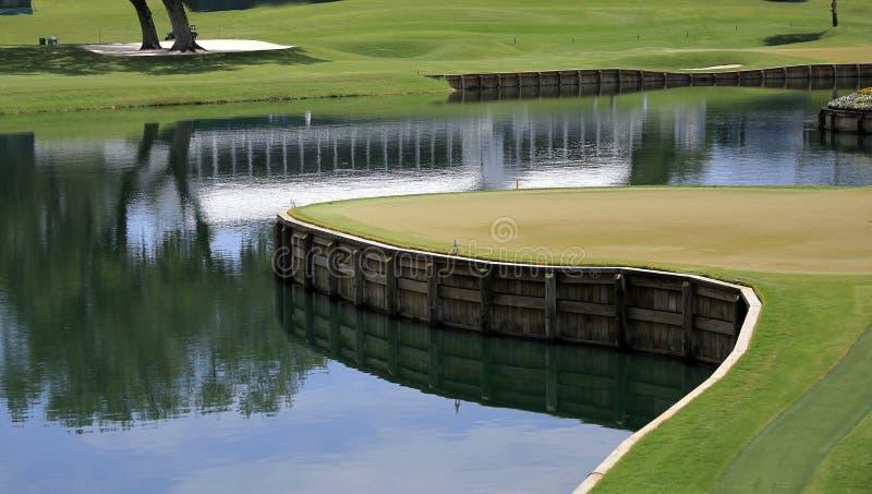 17 fl高尔夫球漏洞ponte sawgrass tpc vedra 库存图片