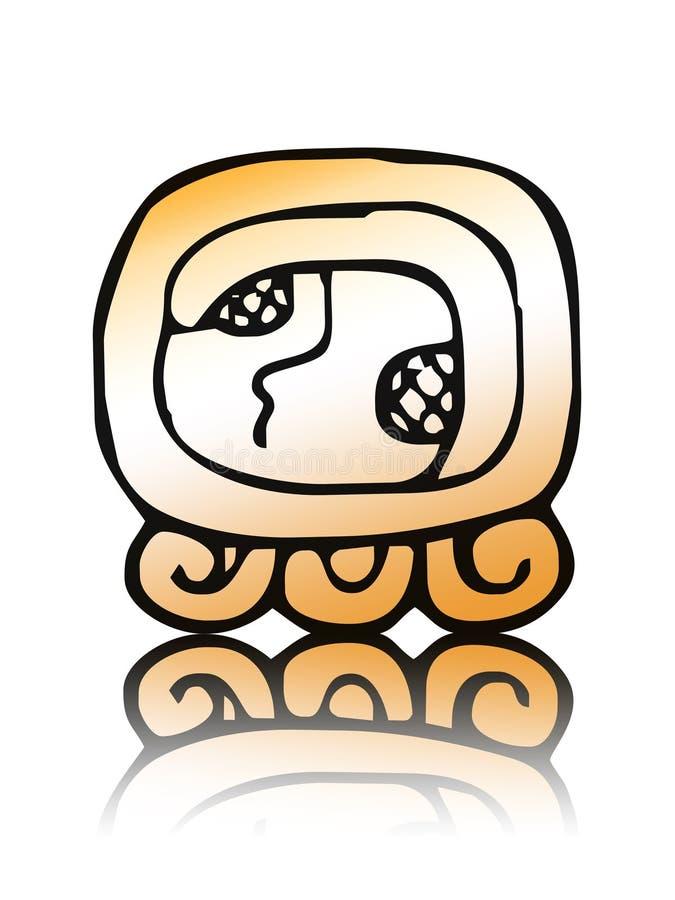 17 Kaban - selo do calendário do maya ilustração royalty free