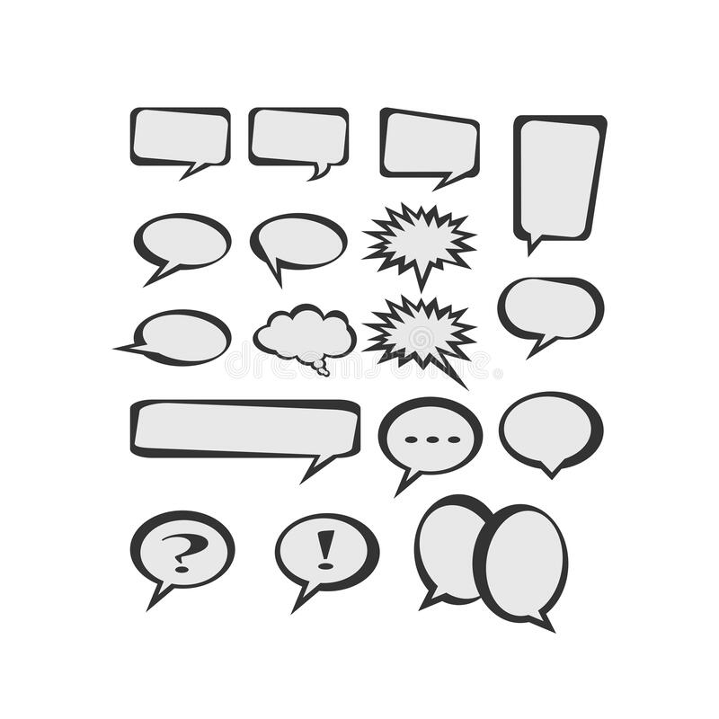 Free 17 Kind Of Variations Comical Of Bubble Speech Royalty Free Stock Images - 175722079