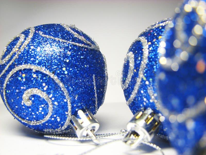 17 niebieskich ornamentów fotografia stock