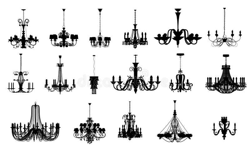 17 olika former för ljuskrona royaltyfri illustrationer