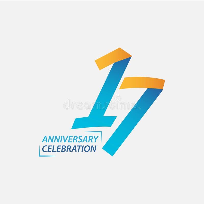 Free 17 Year Anniversary Celebration Vector Template Design Illustration Stock Photo - 145547900