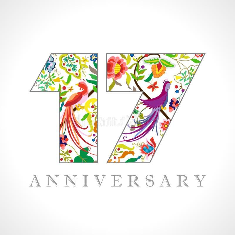 Free 17 Years Anniversary Logo Royalty Free Stock Photography - 155743247