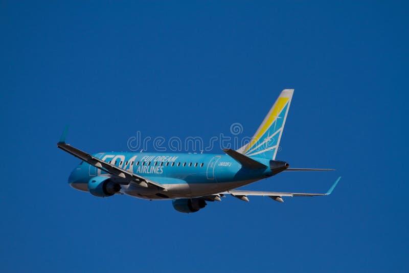 170 flygbolag drömm erj fuji royaltyfria bilder