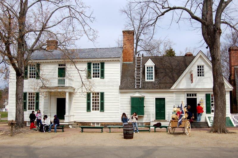 1762 geddy房子詹姆斯VA威廉斯堡 免版税图库摄影