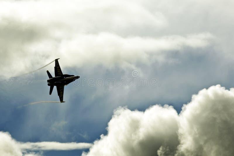 18个天使蓝色f大黄蜂 免版税图库摄影