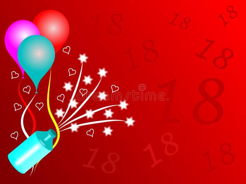 18$η γιορτή γενεθλίων ελεύθερη απεικόνιση δικαιώματος