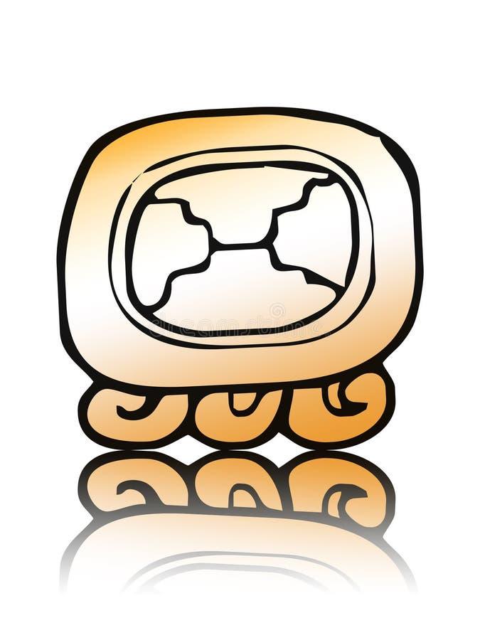 18 Etznab - guarnizione del calendario del maya fotografia stock libera da diritti