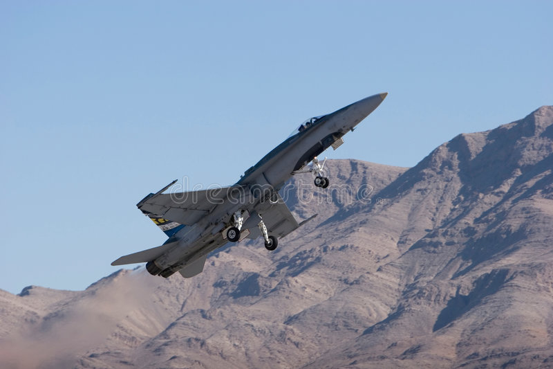 18 f喷气式歼击机 库存图片