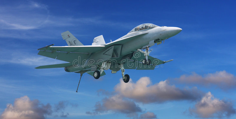 18 f战斗机大黄蜂喷气机 库存图片