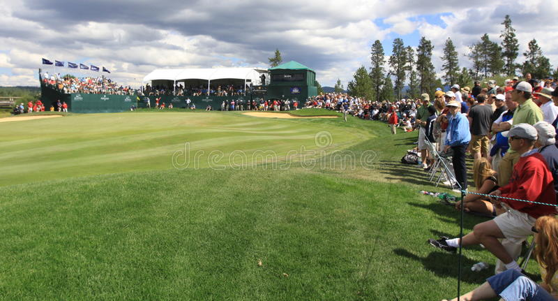18. Grün: Crosswater Golfclub stockfotografie