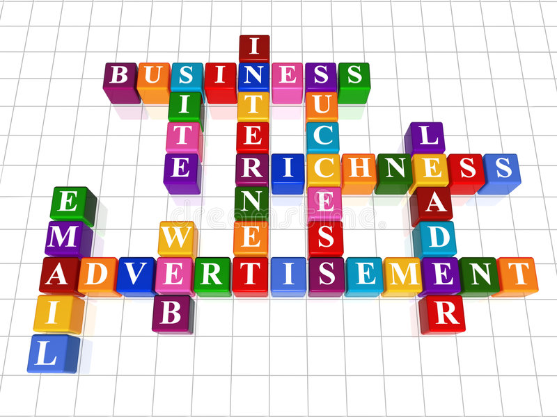 18 reklam crossword sieć royalty ilustracja