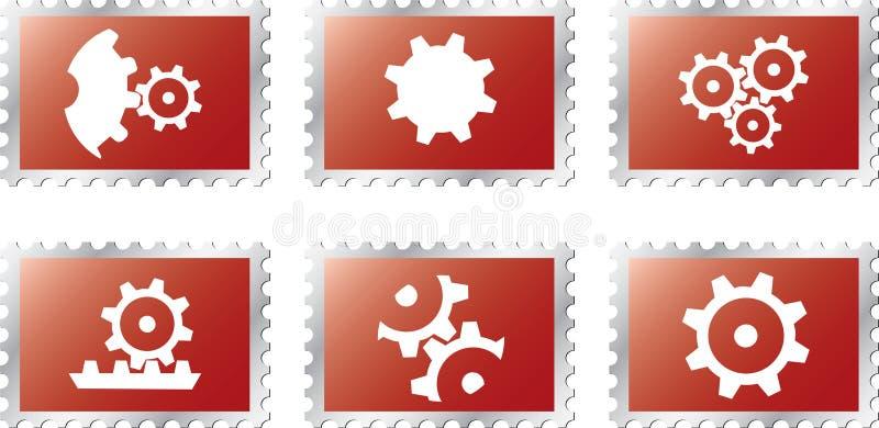 18 ustalane są stamps1 zmiany biegów royalty ilustracja