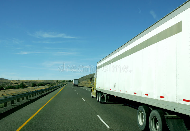 Download 18 wheeler stock image. Image of interstate, load, double - 3165465