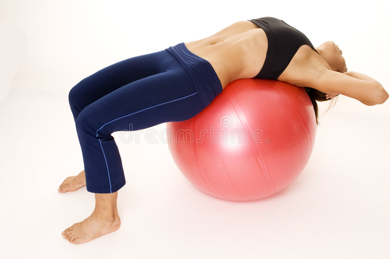 180 Fitball Crunch royalty free stock images