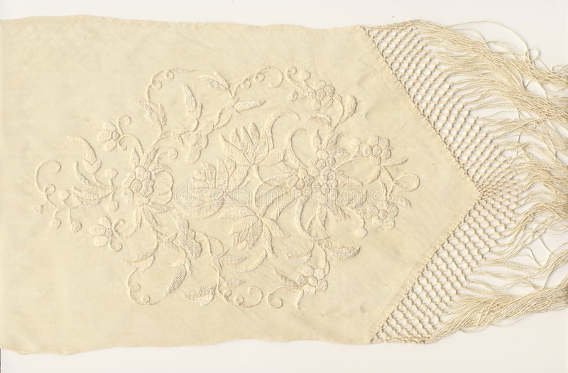 1800's silk embroidery royalty free stock images