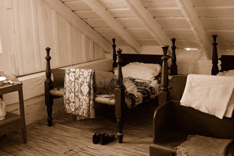 1800s τέταρτα διαβίωσης στοκ φωτογραφία με δικαίωμα ελεύθερης χρήσης