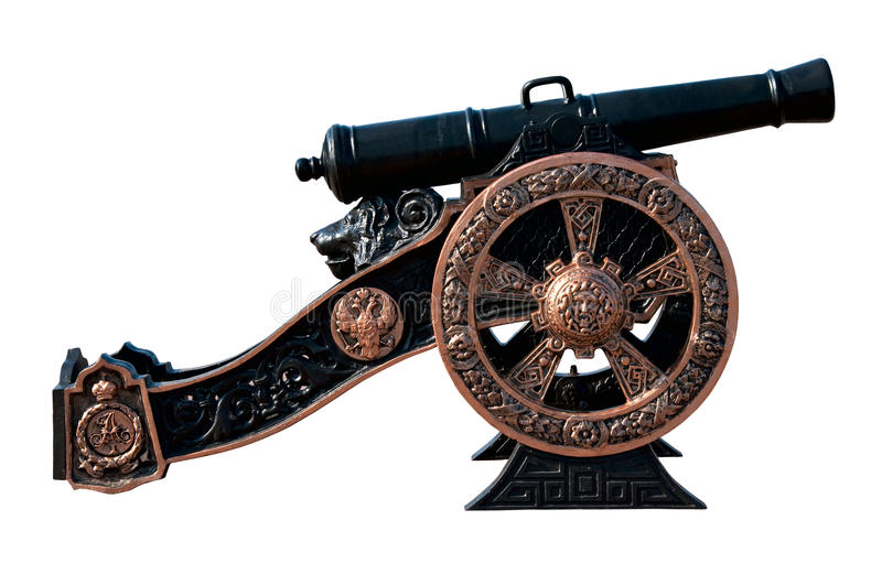 1812 war russian vintage cast iron gun or cannon stock photography