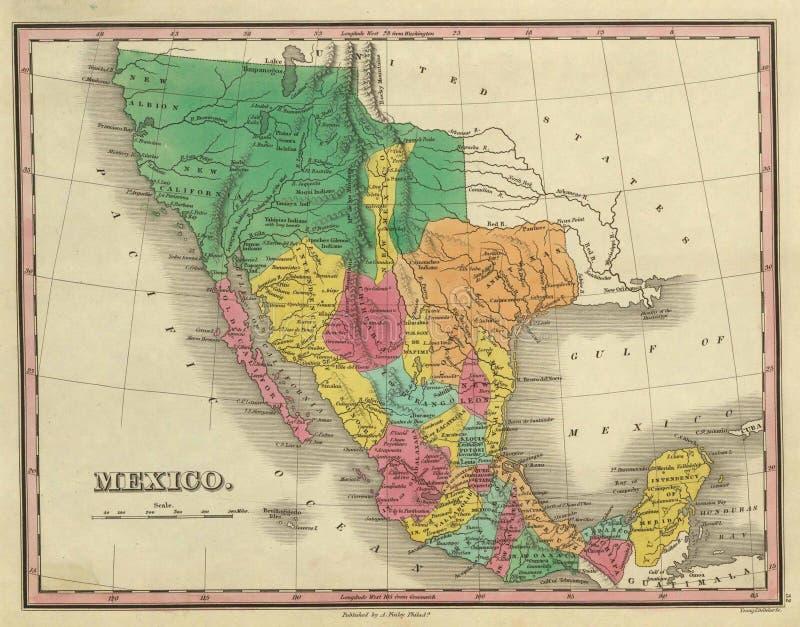 1831古色古香的映射得克萨斯 向量例证
