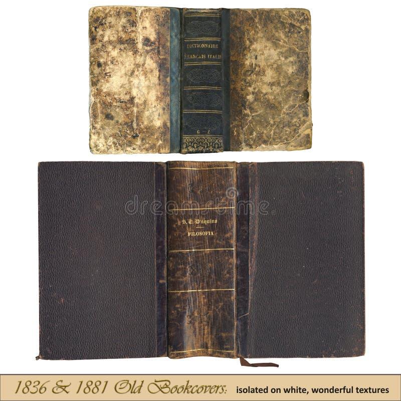 1836 & 1881 vecchio bookcovers fotografie stock libere da diritti