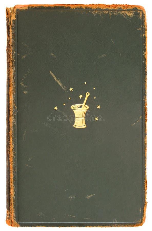 1872年方术书套葡萄酒 库存图片