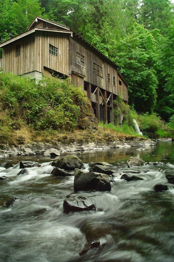 1876年雪松小河段磨房 库存照片